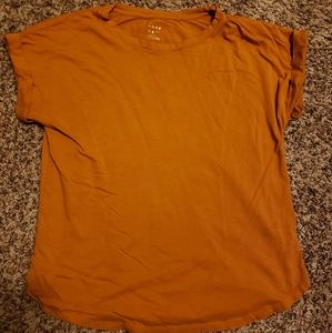 A New Day Orange Short Sleeve Top